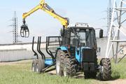 Трелевка леса трактор МТЗ